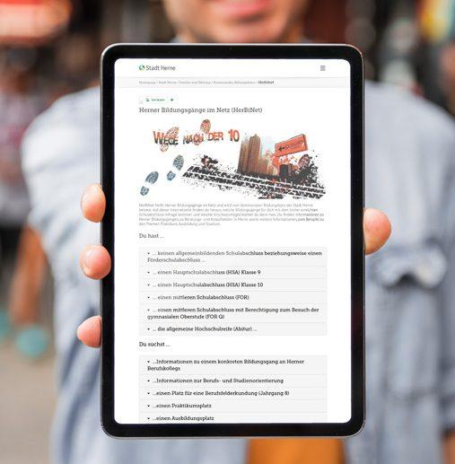 Herner Bildungsgänge im Netz